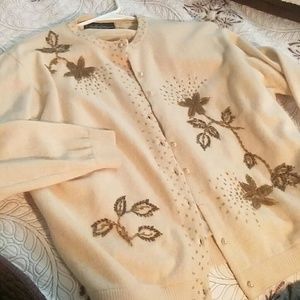 Vintage wool beaded cardigan
